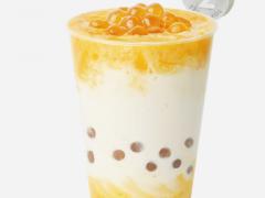 七分甜芒果白桃乌龙奶茶