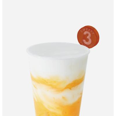 7分甜新创新水果奶茶,芒果果肉加入香浓牛奶, 配上清香白桃乌龙茶,Q弹珍珠增加咀嚼口感,唇齿意犹未尽